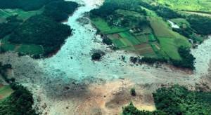 Sobrevoo da área atingida pelo rompimento da barragem em Brumadinho.